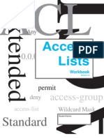 Access Lists Workbook - Student Ed