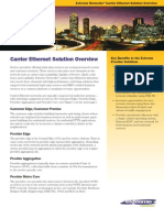 Carrier Ethernet Solution Overview