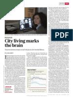 City Living Marks the Brain