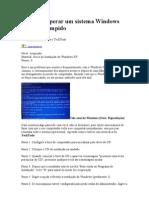 Como Recuperar Um Sistema Windows XP Corrompido