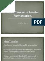 Mass Transfer in Aerobic Fermentation