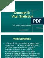 Concept II-Vital Statistics