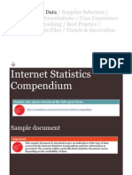 Sample Internet Statistics Compendium