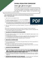 Examinee Self Instruction Sheet