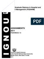 PGDHHM Assignments 2011