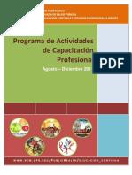 Prog Act Capacitacion Ago-Dic 2011