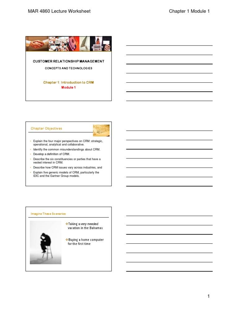 Mar 4860 Chapter Slides Customer Relationship Management