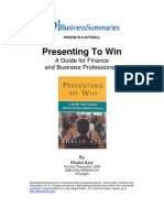 Presenting to Win PDA