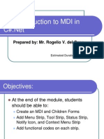 001_Introduction to MDI C#