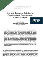 OC age n tenure
