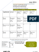 July 2011 Workshops Calendar - This One