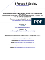 Transformation of the Turkish Military and the Path to Democracy