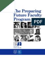 Bb-OrG. Preparing Future Faculty Program (PFF). Brochure