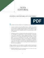 Politica Monetaria en Colombia 2008