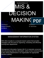 Mis and Decision Making