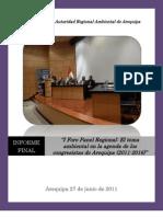 Informe Final Foro Panel Congresistas