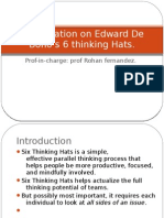 Presentation on Edward De Bono's 6 thinking Hats