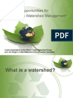 """""""Issues and Opportunities for Charlottetown Watershed Management"""""""
