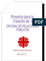 Proyecto Para La Creacion de Una Oficinad e Relaicoens Publcias en Caritas