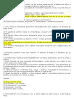 25 QUESTÕES acerca de DOM CASMURRO