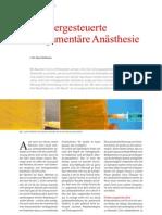 Computergesteuerte intraligamentäre Anästhesie