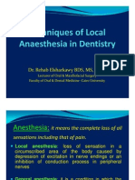Maxillary Anesthetic Techniques