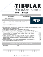 2008 - UEM Vestibular de verão - biologia - prova 3 -