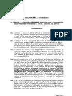 Resolución No. CCS-FGE-105-2011 Impugnante Clever Jimenez- Galo Chiriboga