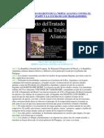Texto Del Tratado Secreto de La Triple Alianza Contra El Paraguay