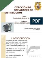 PROTECCIÓN DE TRANSFORMADORES DE DISTRIBUCIÓN