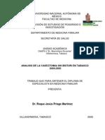 ANALISIS DE LA VASECTOMIA SIN BISTURÍ EN TABASCO 2000-2005