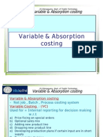 Variable & Absorption Costing
