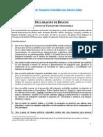 Declaración de Bogotá 2011-2020