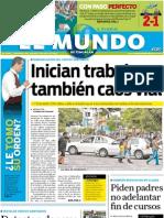 Portada El Mundo de Tehuacán, 5 de julio de 2011