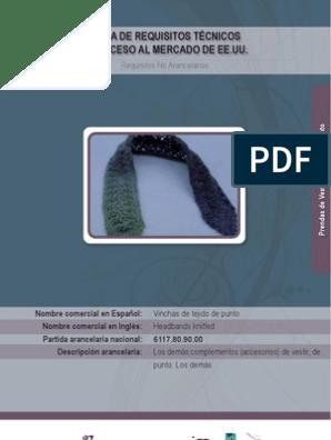 Vincha_de_tejido_de_punto | Marca registrada | Oficina de