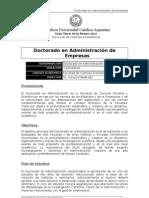 Brochure Doctorado en Administración 2011
