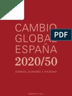 cambio global españa 2020 2050