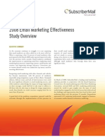2008 Marketing Effectiveness Study