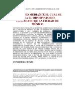 Convenio Observatorio Ciudadano Distrito Federal