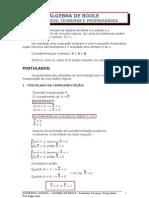 Algebra de Boole-postulados e des