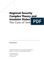 Regional Security Complex Theory and Insulator States