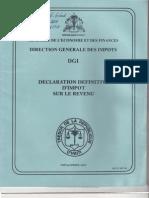 Declaration définitive d'impot sur le revenu - Daniel Gérard Rouzier