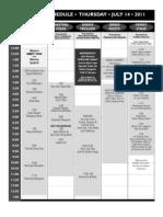 2011 Grey Fox Schedule