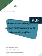 Ocupación marítima y sus fuerzas, factor relevante de la Guerra del pacifíco.