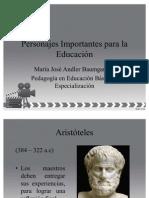 Personajes Importantes para la Educación