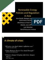 Lutz Weischer-Renewable Energy Policies and Regulation in Asia