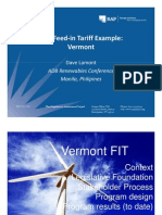 Dave S Lamont - Feed-In Tariff Example Vermont
