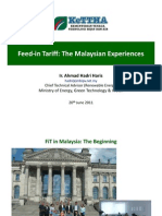 Ahmad Hadri Haris - Feed-In Tariff the Malaysian Experiences