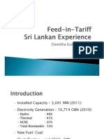 Damitha Kumarasinghe - Feed-In-Tariff Sri Lankan Experience
