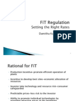 Damitha Kumarasinghe - FiT Regulation Setting the Right Rates
